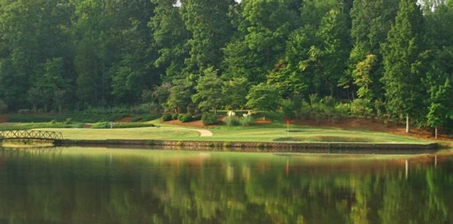 Second hole at Fort Mill Golf club
