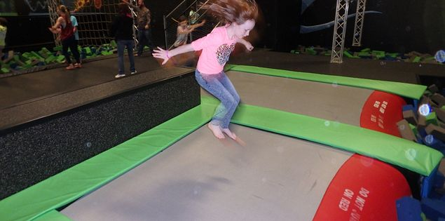 trampolines at HiWire
