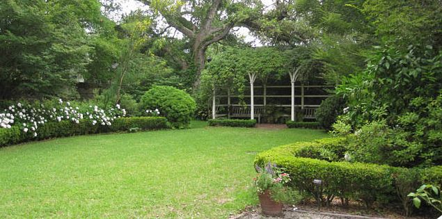 The lovely gardens that lead you to the Nathaniel Russell House visitor's center were installed in the 1980s.