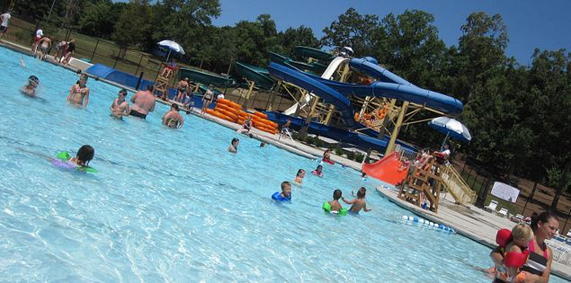 One of the pools at South Carolina's Otter Creek Water Park in Greenville