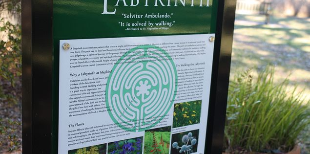Garden Labyrinth at Mepkin Abbey