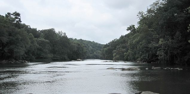 The Saluda River in Columbia, South Carolina