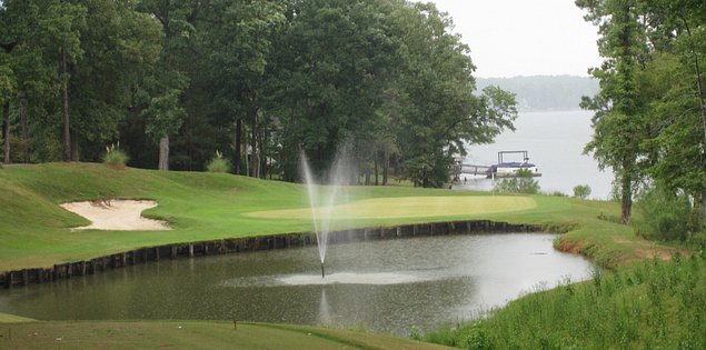 Water on the Timberlake Country Club's course