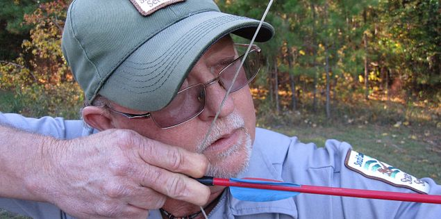 Archery demonstration at Hickory Knob State Park