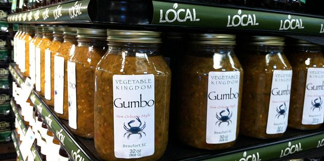 Vegetable Kingdom's gumbo from Beaufort, South Carolina