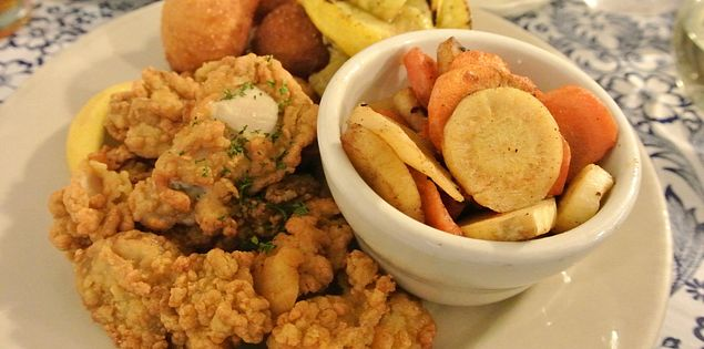 fried oysters battered