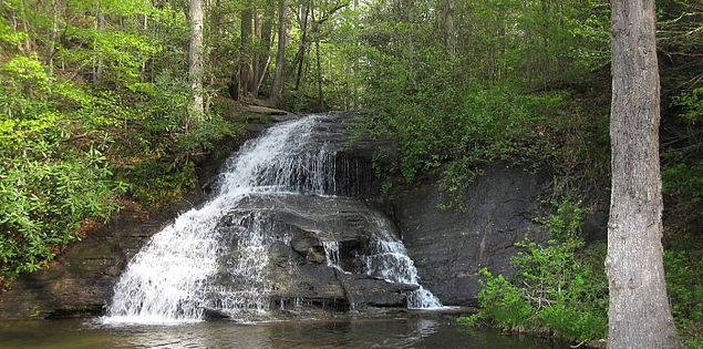 Wildcat Branch Falls from South Carolina's Cherokee Foothills Scenic Highway
