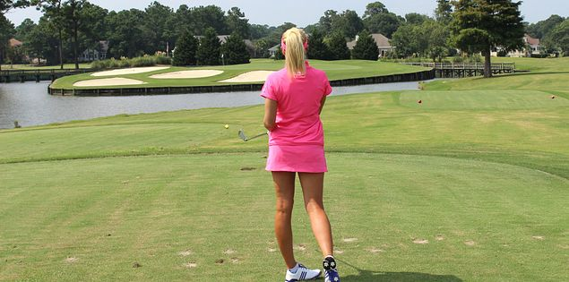 Natalie Gulbis follows her shot in South Carolina