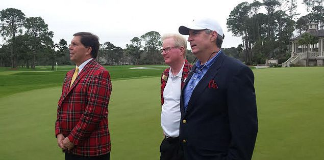 Harbour Town director of golf John Farrell, RBC Heritage director Steve Wilmot and SCGA board member Charlie Rountree