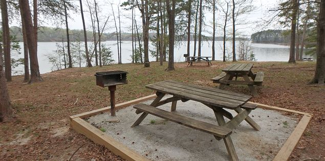 Lake Hartwell picnic area