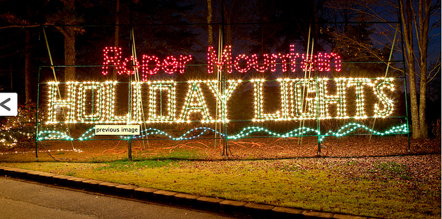 Roper Mountain Holiday Lights in South Carolina