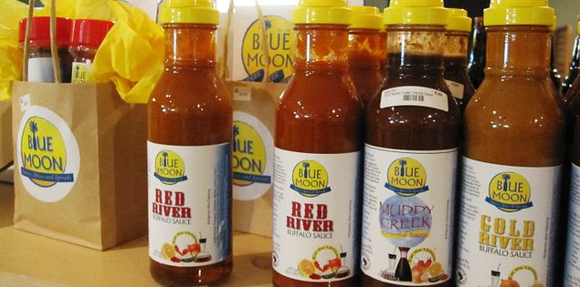 Sauces from Blue Moon at Orangeburg's Five Rivers Market