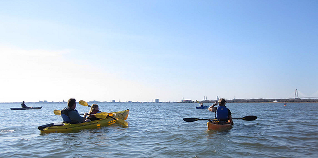 Paddle through Shem Creek into Charleston Harbor