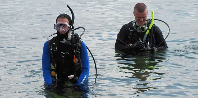 Shore dive from Devils Fork State Park into South Carolina's Lake Jocassee