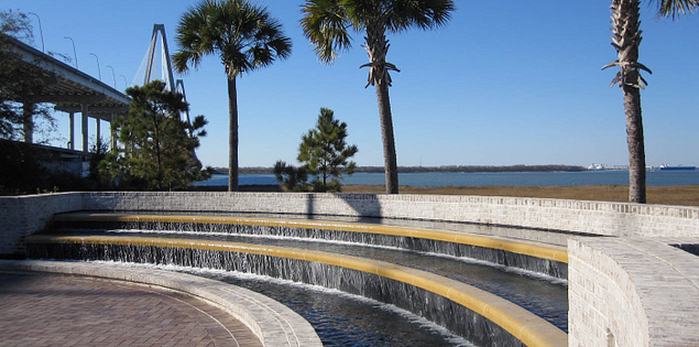 Waterfront Park's Mount Pleasant War Memorial in South Carolina