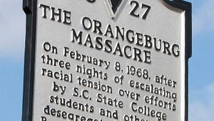 Orangeburg Massacre Marker