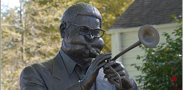 Statue of Dizzy Gillespie in South Carolina