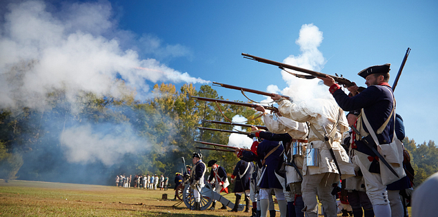 Patriots reenactors in Camden, South Carolina