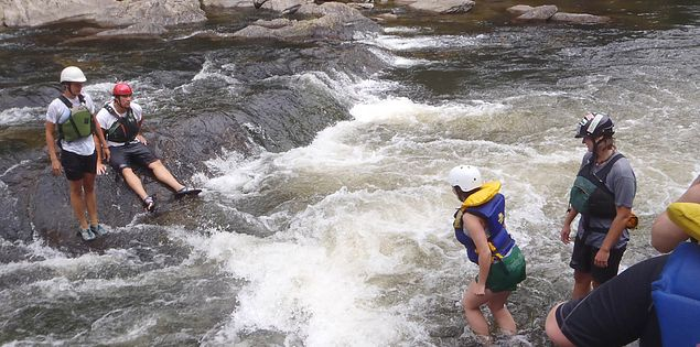 Searching for garnet an a South Carolina Upstate's Chattooga River rafting adventure