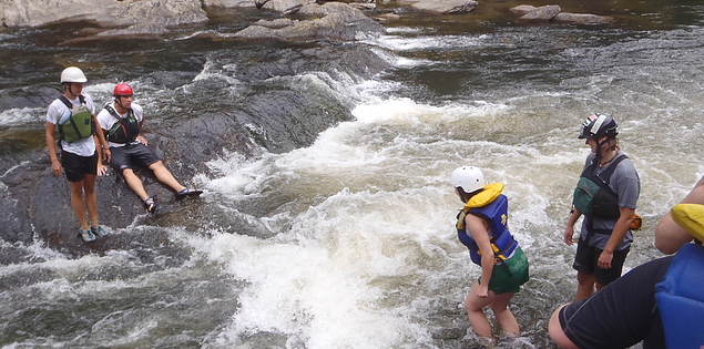 Whitewater rafting on South Carolina's Chattooga River