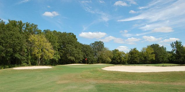Sand bunkers on South Carolina State University's home course, Hillcrest Golf Club