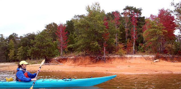 Paddling on Lake Russell in Calhoun Falls State Park