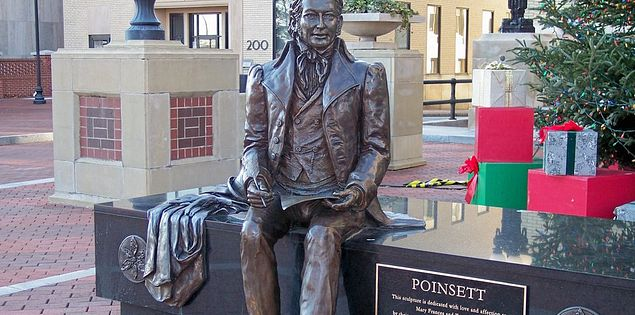 Greenville's bronze statue of Joel Poinsett