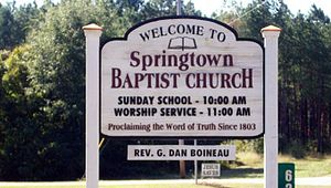 Springtown Baptist Church