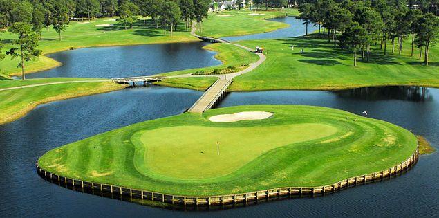 Golfing at Man O' War's greens in South Carolina