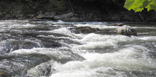 Rapid on South Carolina's Lake Tugaloo on the Chattooga River