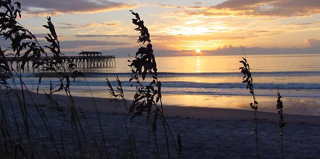 Sunset at Myrtle Beach State Park.