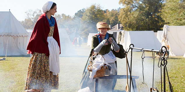 Revolutionary War reenactors in South Carolina