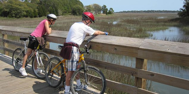 huntington beach state park bridge bike