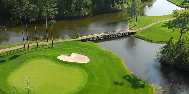 The 18th hole par-4 at the The Witch Golf Course in Myrtle Beach