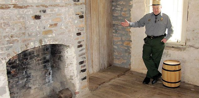 Park Interpreter gives a tour at Oconee Station in South Carolina
