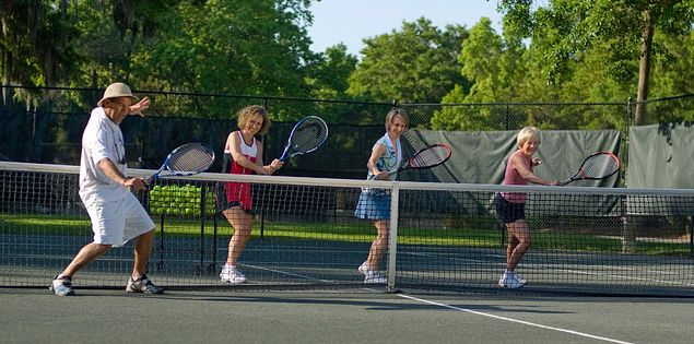 Test your skill on the tennis courts at Palmetto Dunes Resort in SC.