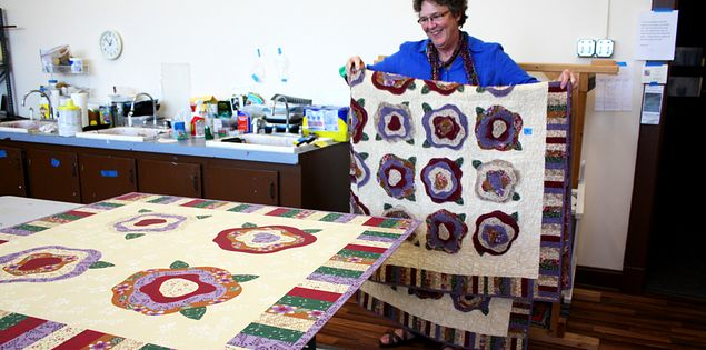 Martha File in the Upstate Heritage Quilt Trail