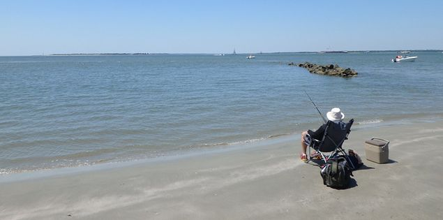 There are endless opportunities to fish on Sullivan's Island, SC.