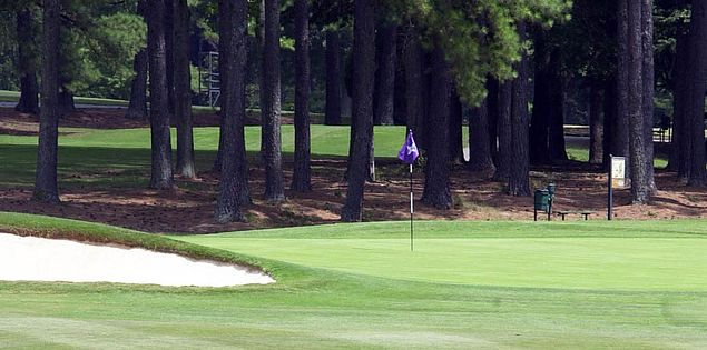 The greens of Furman University Golf Club