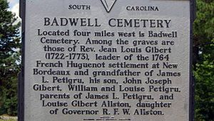 Badwell Cemetery Historical Marker