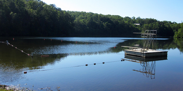 Diving board at Table Rock State Park