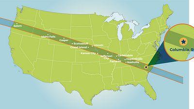 Total Solar eclipse laurens south carolina