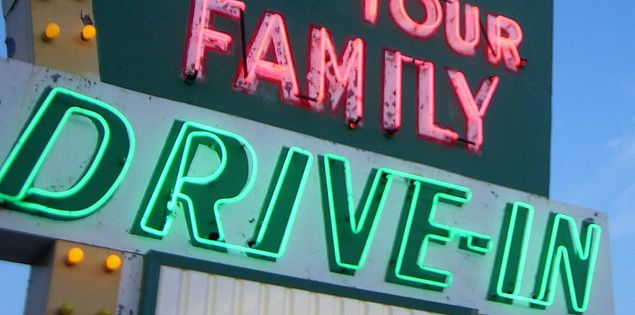 sugar spice drive in sign