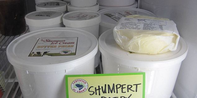 Ice cream from Shumpert Dairy at Orangeburg's Five Rivers Market