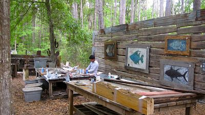 Art at Daufuskie Island's Iron Fish Gallery Honors Island Life