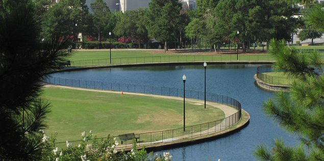 Downtown Columbia, SC, is home to the beautiful Finlay Park.