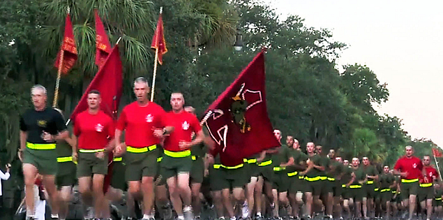 Family Day at Parris Island's United States Marine base