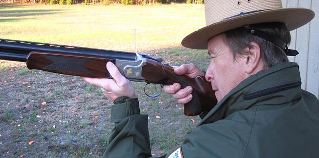 Park Ranger skeet shooting at Hickory Knob State Park