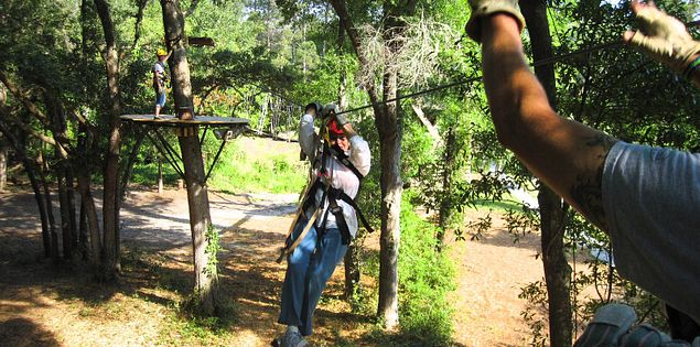 Ziplining on Hilton Head Island in South Carolina