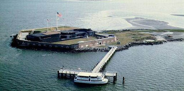 Boat ride tour of Fort Sumter